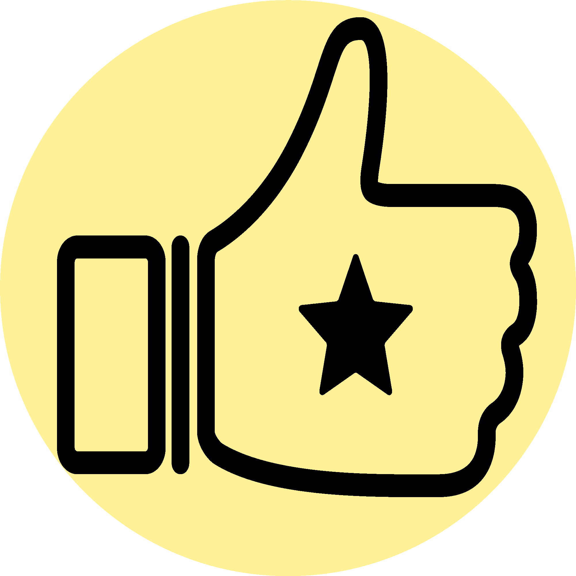 thumb up with star